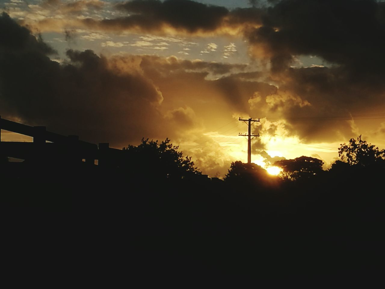 silhouette, sunset, sky, cloud - sky, low angle view, nature, no people, outdoors, beauty in nature, tree, day