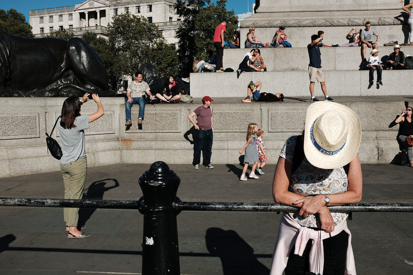 People And Places London Trafalgar Square Street Street Photography Streetphotographers London Lifestyle Enjoy The New Normal The Street Photographer - 2017 EyeEm Awards Lost In London
