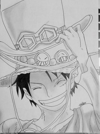 One Piece Manga Art Drawing Blackandwhite Luffy Dessin