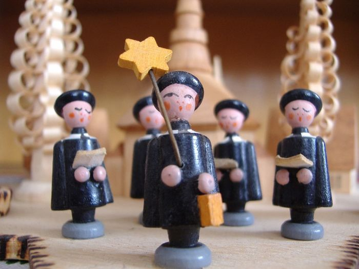 Christmas Decorations Close-up Collection Figurine  Focus On Foreground In A Row Kurrende Large Group Of Objects Man Made Object Still Life The Culture Of The Holidays Wooden Objects