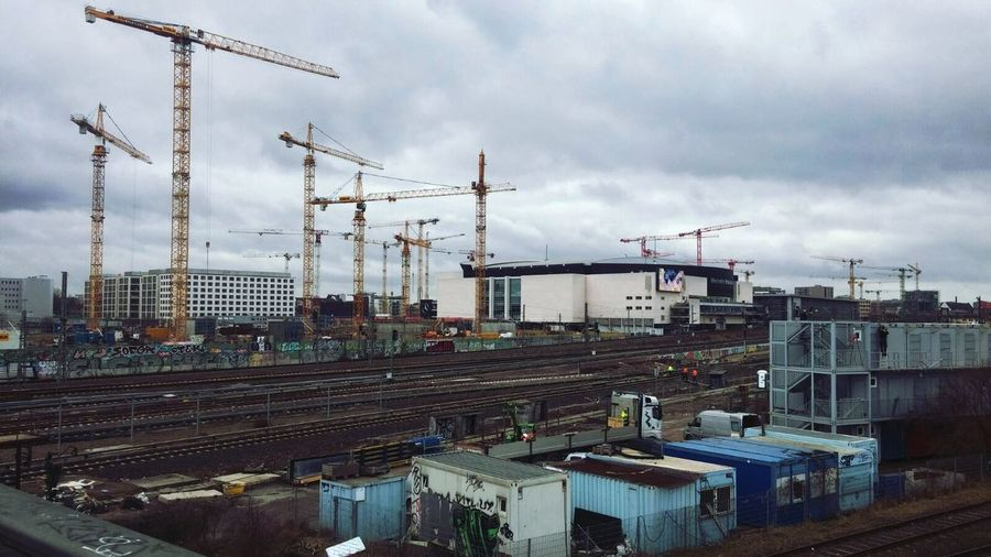 Berlin on construction City Sky Industry Outdoors Cloud - Sky No People Day Zalando EastSide Mercedes-Benz Arena