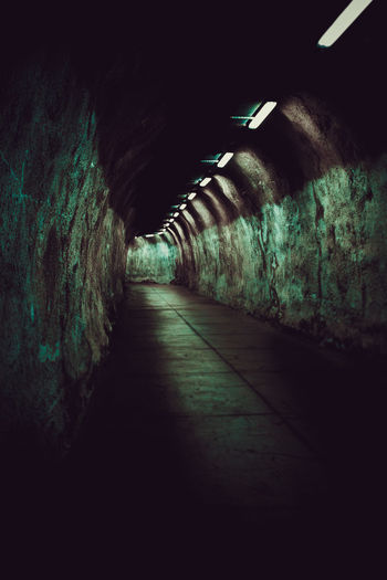 Architecture Tunnel No People Indoors  Direction Lighting Equipment Dark Transportation Wall - Building Feature Light At The End Of The Tunnel Subway Corridor Arcade Spooky The Way Forward Diminishing Perspective Public Transportation vanishing point Cellar Built Structure