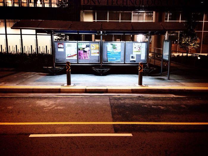 Empty Bus Stop Public Transportation Bus Stop