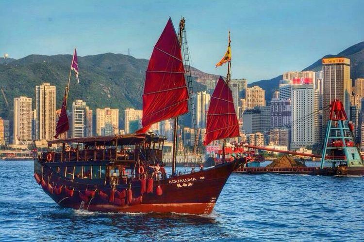 Hong Kong HongKong Aqualuna Boat Boats Boatride