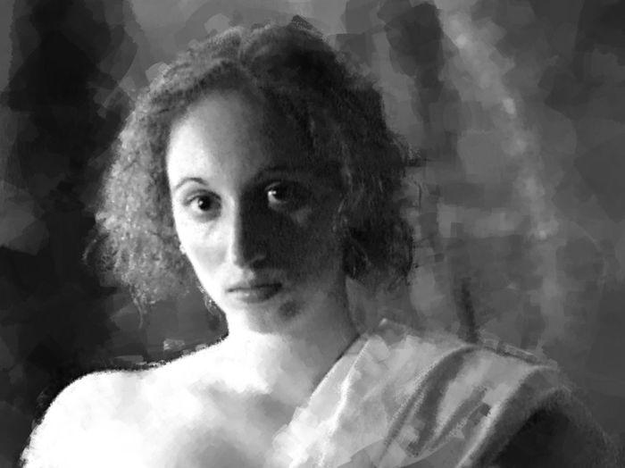 Caryatid 2 Caryatid Statuesque Digital Painting Digital Manipulation Black And White Beauty Natural Beauty Sensual Sensuality Classical Goddess