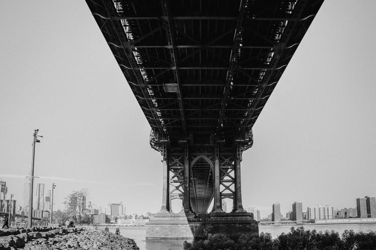 Architecture Built Structure Tourism Low Angle View Bridge - Man Made Structure Brooklyn Bridge / New York Brooklyn Bridge NYC Photography The Great Outdoors - 2017 EyeEm Awards EyeEm Selects