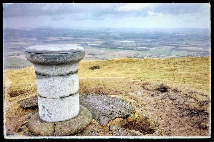 The summit of East Lomond Fife  Hills Hill Scotland Landscape Snapseed