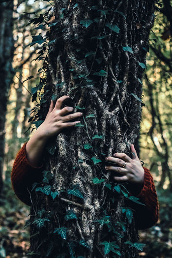 One Person People Human Hand One Woman Only Holding Human Body Part Only Women Adult Nature Adults Only Forest Day Outdoors Pinaceae Green Color EyeEm Selects Photography Themes VSCO EyeEmNewHere Camera - Photographic EquipmentClose-up Tree Leaf Women One Young Woman Only
