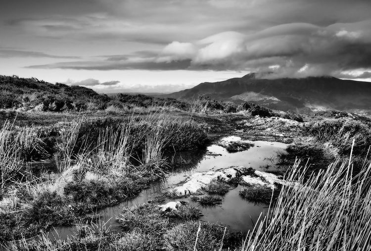 The Lake District Mountain View Water Reflections Beauty In Nature Black And White Cloud - Sky Day Grass Landscape Mountain Mountains Mountains And Sky Nature No People Outdoors Scenery Scenic View Scenics Sky Tranquil Scene Tranquility Water Water Mountain Sky