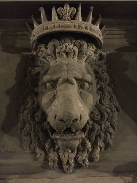 Lion Sculpture Pitti Palace Florence