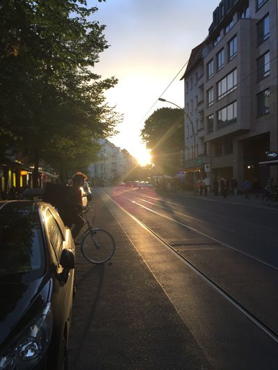 Blurred Motion Illuminated Lens Flare Light Motion Spraying Street Sun Sunbeam
