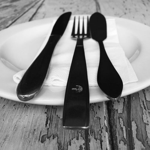 Lunch? Restaurant Street Photography Month Of January South Africa Pretoria Cutlery Knife Fork Spoon Table