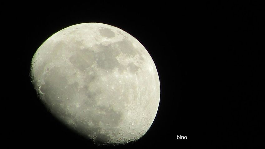 Last Night's Moon Surface Looking Up Upclose And Personal Cadillac Sky Cold Night Pure Michigan