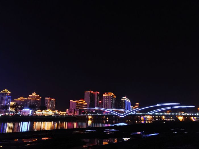 Night Building Exterior Architecture Illuminated Built Structure Sky City