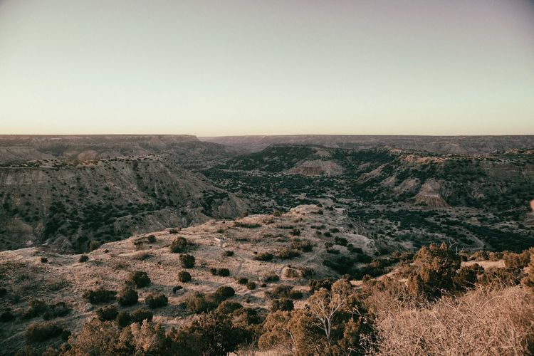 Palo Duro Canyon Nature Beauty In Nature Landscape Tranquility Tranquil Scene Scenics Outdoors No People Day Clear Sky Mountain Tree Sky