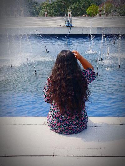 Curly Hair ❤ Long Hair <3 Water Fountain Me (: Blue Miss The Fun Backinmalay