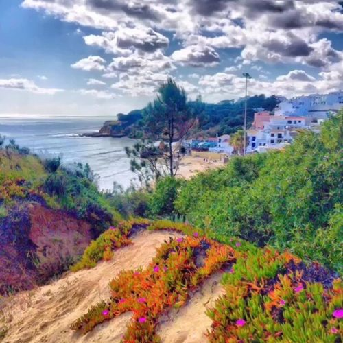 Beautiful views looking over Olhos de Água Sea Cloud - Sky Sky Nature Scenics Beauty In Nature No People Outdoors Tree Beach Water Landscape Day Architecture Sea And Sky Sea