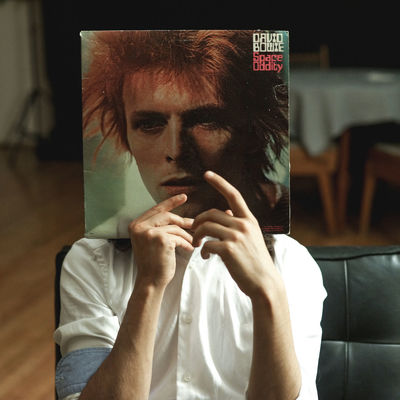 Album Cover Albums Alive  Bowie Casual Clothing Close-up Conceptual Conceptual Photography  Covers Creative Light And Shadow Creativity David Bowie Friends Front View Headshot Imagination Indoors  Legend Leisure Activity Lifestyles Muscian  Music Portrait Rock Space Odyssey