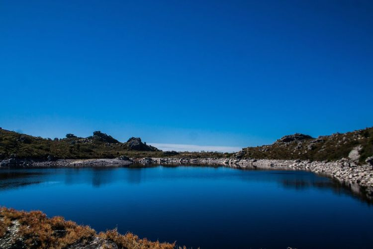 Mountain water Dam Nature Blue Clear Sky Tranquility Mountain
