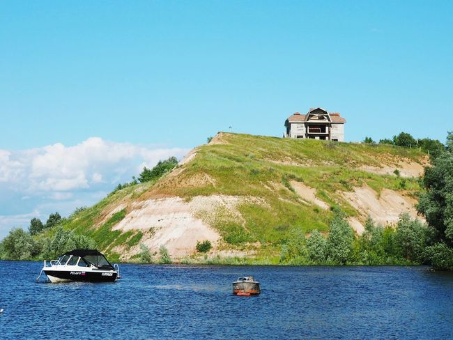 Architecture Building Exterior Nautical Vessel Water Sea Built Structure Lighthouse Outdoors Day No People Transportation Clear Sky Sky Nature Russian Nature Russia Volga River Boat Houseinthehills Beach Life Ship Nature Sammer July