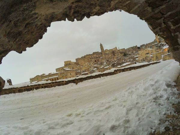 Magico Matera Matera Italia Italy Neve Snow Rock - Object Outdoors Nature Sand No People Day Sky Rural Scene Architecture