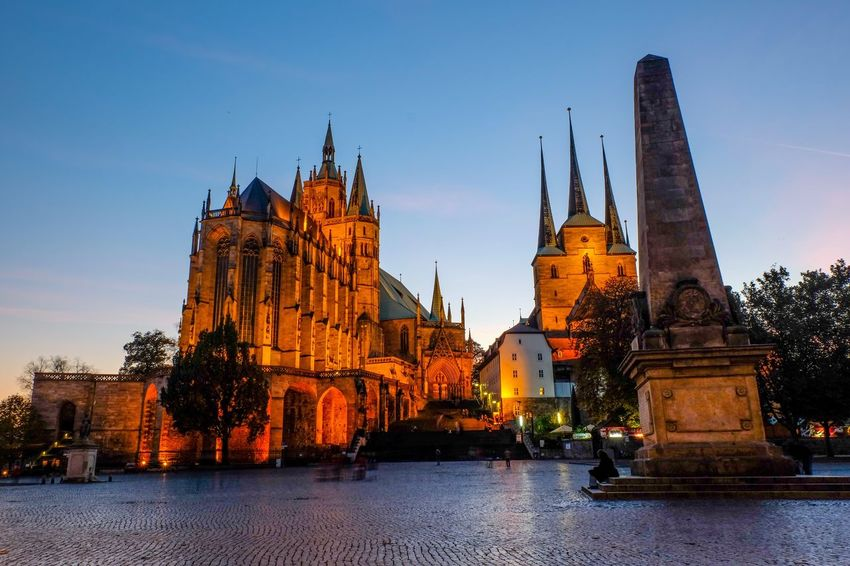 Architecture Religion Spirituality Place Of Worship Built Structure History Building Exterior Tourism Travel Destinations Travel Sky Water No People Day Statue Outdoors City Erfurt, Dom, Church EyeEmNewHere The Architect - 2017 EyeEm Awards Neighborhood Map Your Ticket To Europe My Best Travel Photo
