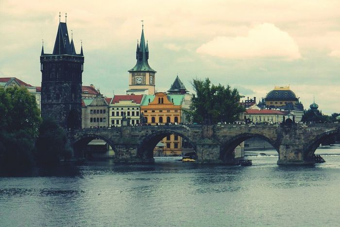 Prague Czech Republic Carl's Bridge Bridge City View  Enjoying The View River View Visiting Prague Travel Photography Europe