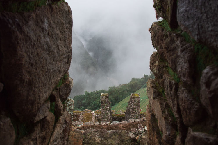 No People Mountain Rock Ancient History Nature Solid Day Rock - Object Scenics - Nature The Past Beauty In Nature Travel Destinations Rock Formation Old Ruin Outdoors Tranquility Architecture Tranquil Scene Sky Ancient Civilization Machu Picchu Inca