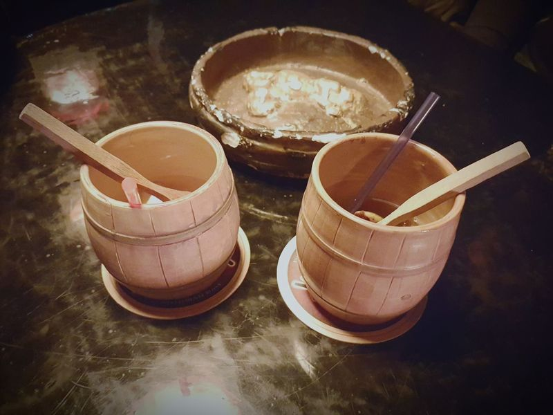 No People Indoors  Food Day Drink Time Drink Up Barrels Cups Spoons Ship Theme Pirate Themed Tabletop Night Out ♥ Cheers 🍻 Camogli,Italy,Liguria Jamaican Rum