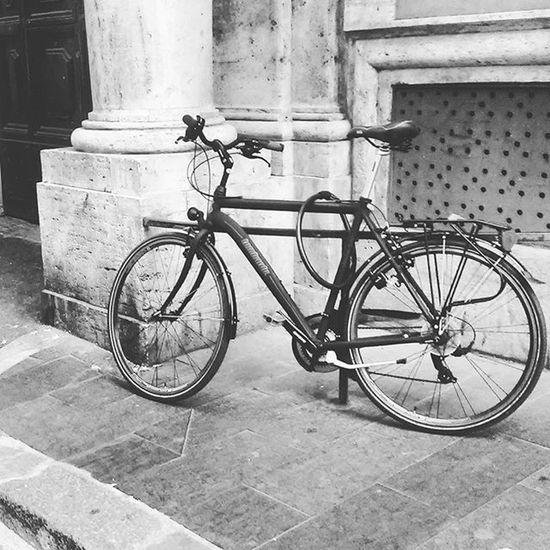 Round and around we go • Bike Bicycle Blackandwhite Bnw Parkedbikesoftheworld ✧