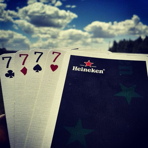 Playing Cards Heineken Luckynumber7 Luckynumber Enjoying Life Check This Out Mobilography Smart Simplicity Shapes