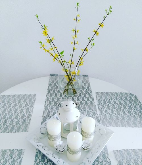 Spring Vase Flower Dining Table No People Day Springtime Decoration Home Sweet Home Home