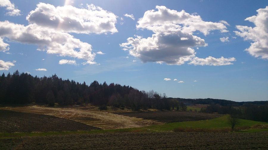 Sky And Clouds Blue Sky Clouds Sunny Farm Life Fields Forest