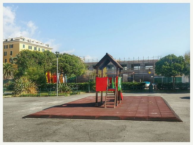 Kinderspielplatz Giochi Per Bambini Tree Playground Day Built Structure No People Sky Outdoors Building Exterior In Town Seaside Android Photography Note 2 Smartphone Photography