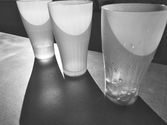 drinking glasses on table Blackandwhite Mobile Photography Drink Drinking Glass Table Close-up