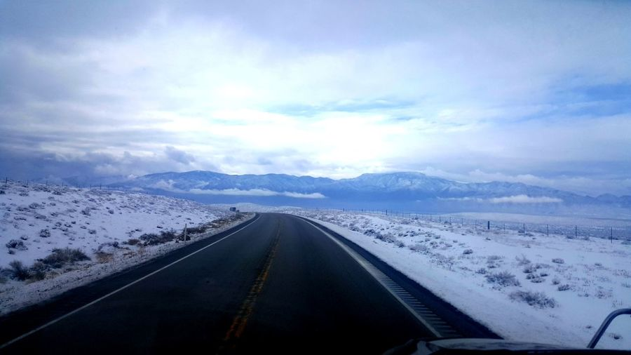 It's Cold Outside See What I See Open Your Eyes On The Road Traveling Samsung Galaxy S6 Edge Nature_collection Road Trip Travel The World Clouds And Sky Mountain_collection Showcase: January Better Look Twice