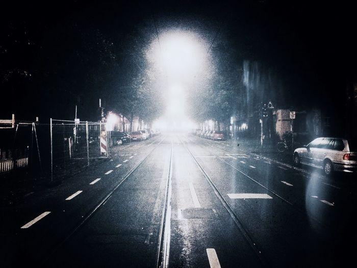 Night Monochrome Light And Shadow Streetphotography