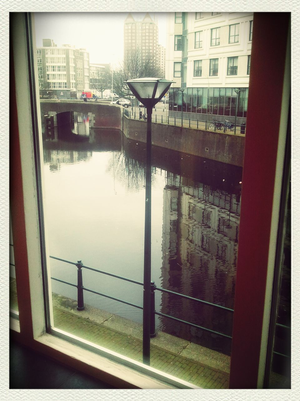 View Of Canal Through Window
