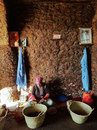 Indoors  Moroccan Style Travel Destinations Morocco Maroc ❤️ Travel Argan Oil Working One Woman