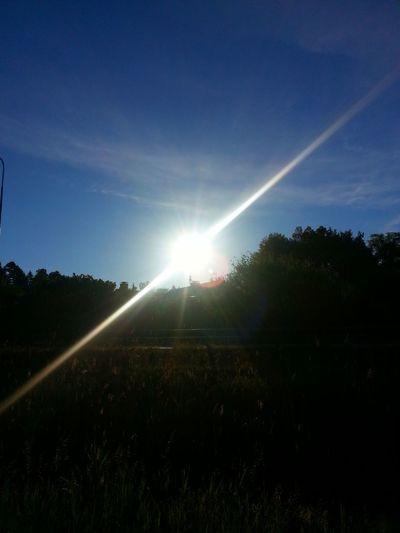Watching The Sun Rise Blue Sky