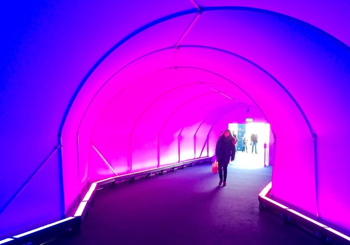 Trade show tunnel Vanishing Point IPhoneography Taking Photos Check This Out