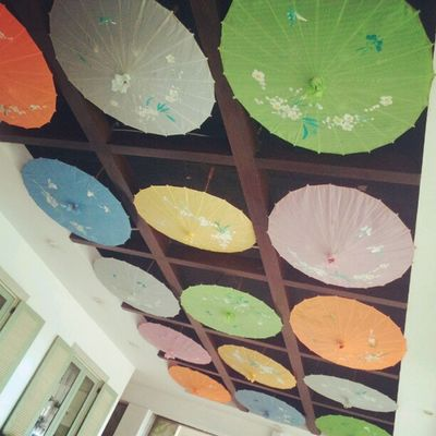 Umbrella Ceiling Cafe Instabanjar instagram pictoftheday
