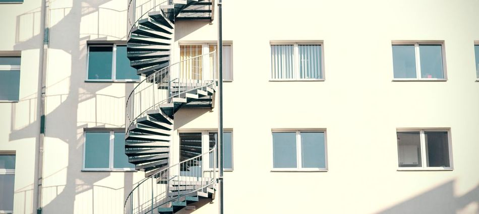 round stairs Architecture Building Building Exterior Built Structure Glass - Material Indoors  Low Angle View Modern Pattern Railing Repetition Stairs Urban Window