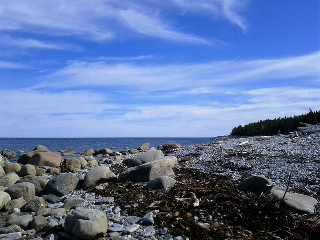 Sea Horizon Over Water Beach Sky Outdoors Scenics Water No People Nature Day Anticosti Islands Beauty In Nature Tranquility Vacations Tourism