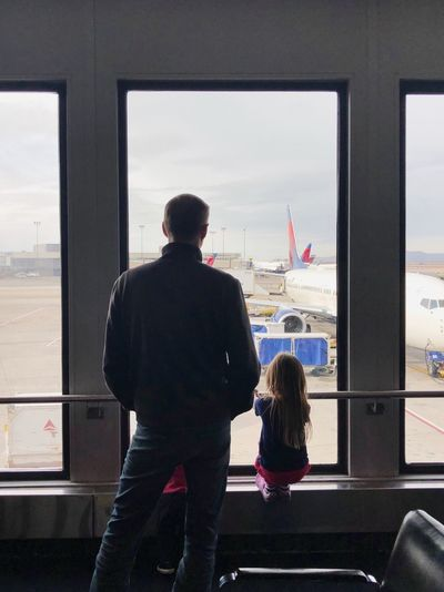 Waiting for the plane Aircraft EyeEm Gallery EyeEm Best Shots Eye4photography  Traveling Air Vehicle Window Glass - Material Real People Rear View Transparent Transportation Indoors  Looking Through Window Travel Airport Lifestyles Mode Of Transportation Leisure Activity Standing Looking It's About The Journey 2018 In One Photograph Moments Of Happiness Moms & Dads