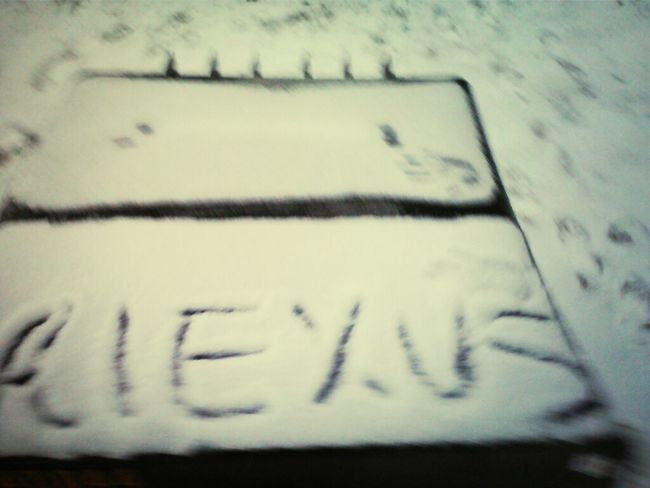 , wrote my name in the SNOW !
