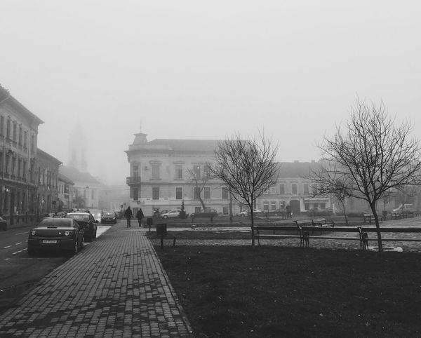 Into the fog... Streetphotography Vscocam Blackandwhite Hanging Out Taking Photos Eye4photography  Made In Romania Hello World Winter Outdoors Traveling Relaxing Having Fun Check This Out EyeEm Best Shots Enjoying Life Bw IPS2016Composition