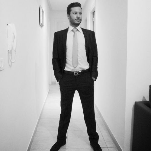 One Man Only Portrait Full Length Standing Front View Indoors  Confidence  Young Adult One Young Man Only Suit Suitup Suit And Tie