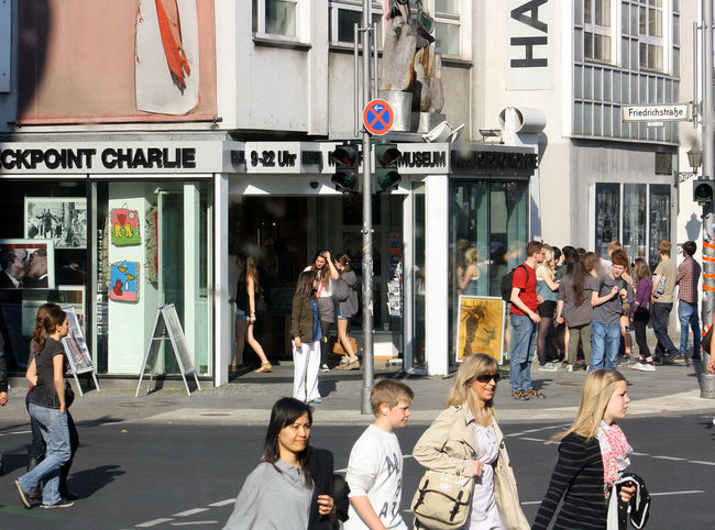 Checkpoint Charlie street life A Taste Of Berlin Berlin Photography Adult Architecture Building Exterior Checkpoint Charlie Berlin  City Day Large Group Of People Men Outdoors People Real People Street Walking Women