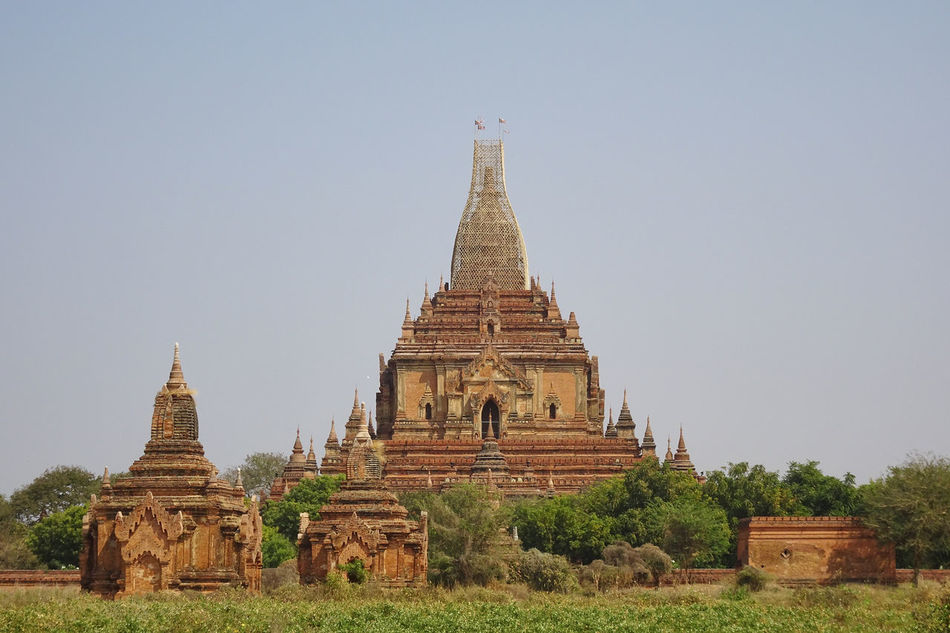 Bagan, Myanmar #Bagan In #Myanmar Ancient Ancient Civilization Archaeology Architecture Beauty In Nature Building Exterior Built Structure Clear Sky Day History Nature No People Old Ruin Outdoors Place Of Worship Religion Sky Spirituality The Past Tourism Travel Travel Destinations